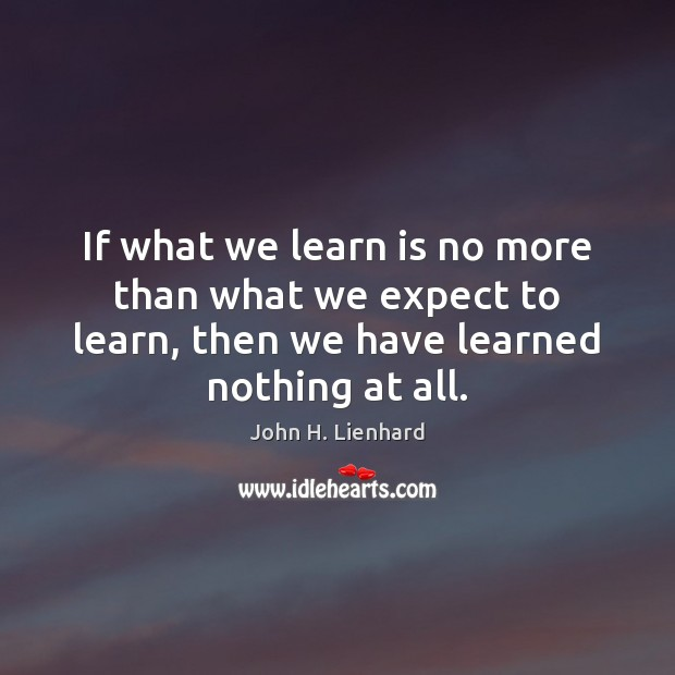 If what we learn is no more than what we expect to Image