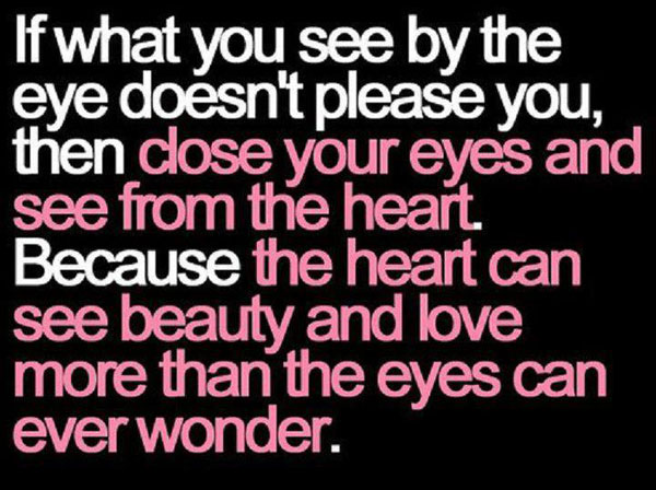 Image, Close your eyes and see from heart
