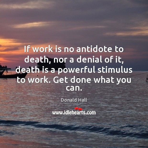 If work is no antidote to death, nor a denial of it, Death Quotes Image