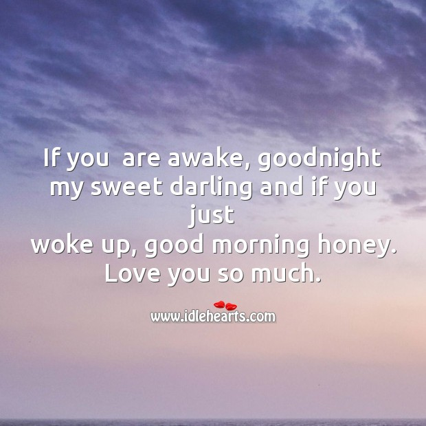 If you  are awake, goodnight my sweet Love You So Much Quotes Image