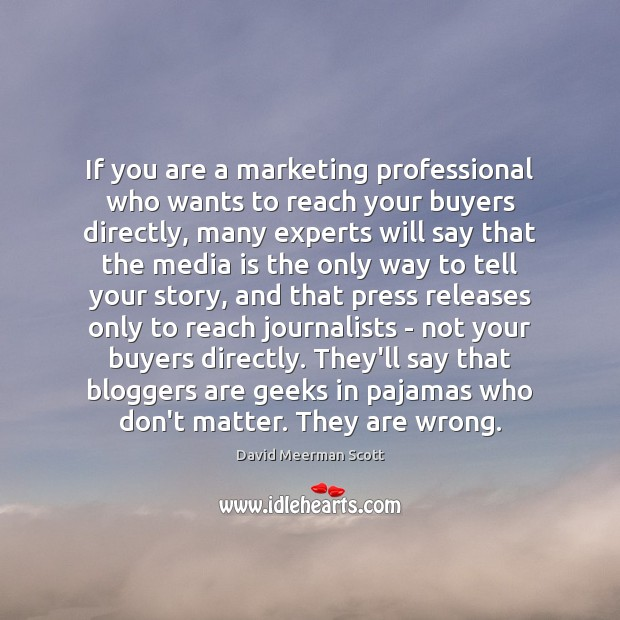 If you are a marketing professional who wants to reach your buyers Image