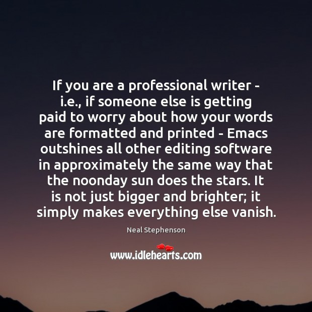 Image, If you are a professional writer – i.e., if someone else