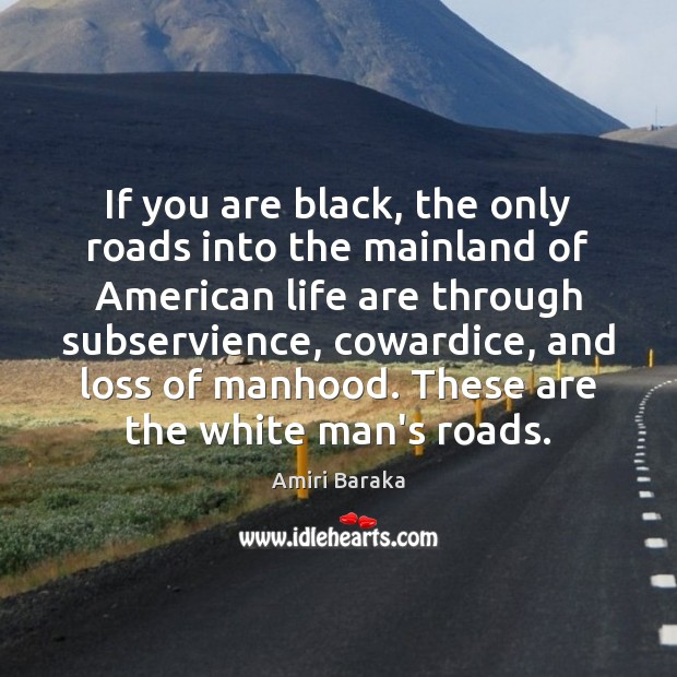 If you are black, the only roads into the mainland of American Image