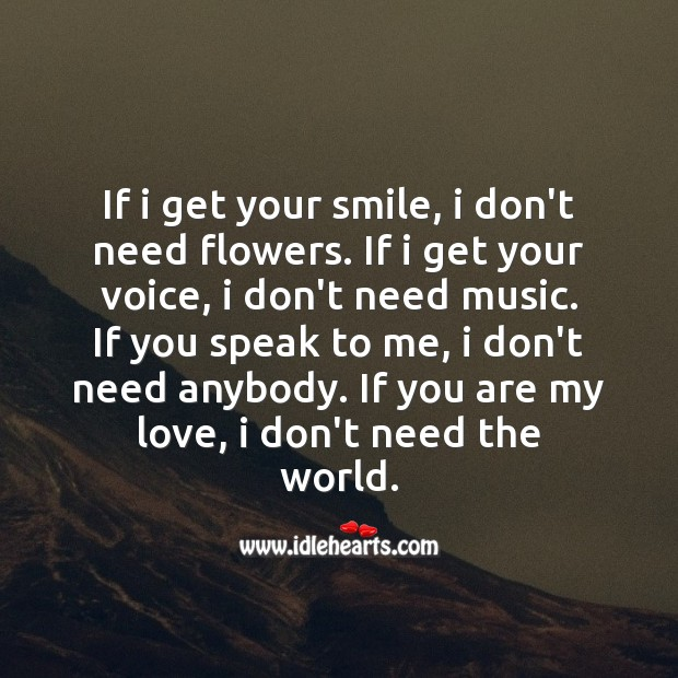 I need you my love 130 Romantic