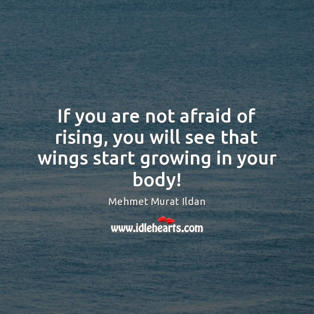 Image, If you are not afraid of rising, you will see that wings start growing in your body!