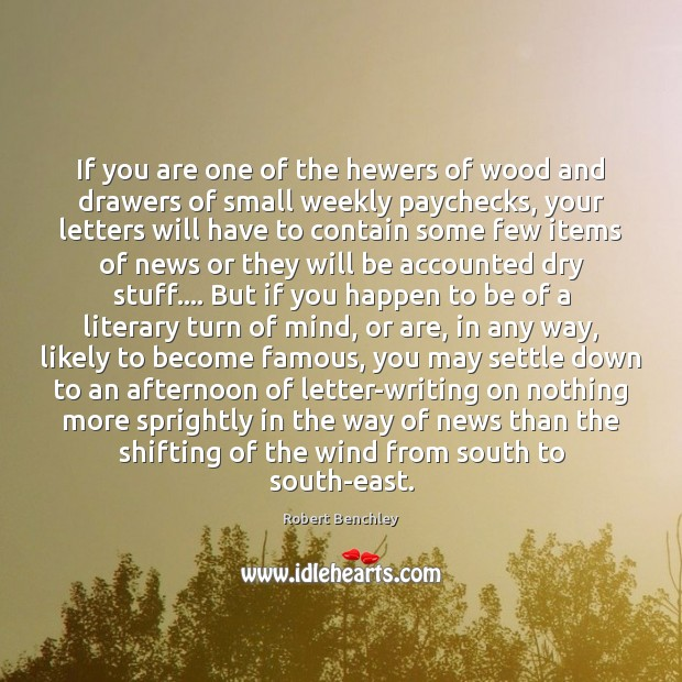Image, If you are one of the hewers of wood and drawers of