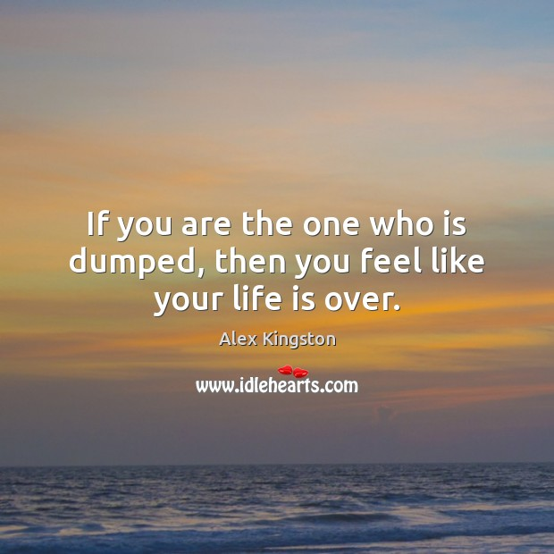 If you are the one who is dumped, then you feel like your life is over. Image