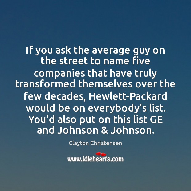 Image, If you ask the average guy on the street to name five