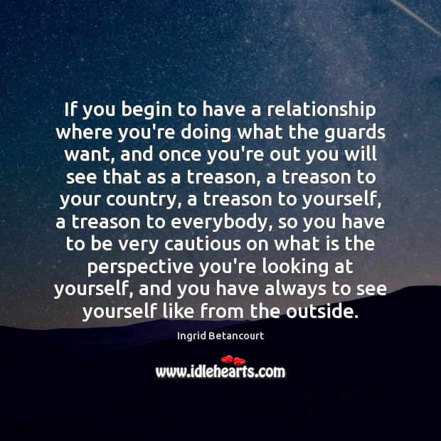 If you begin to have a relationship where you're doing what the Image