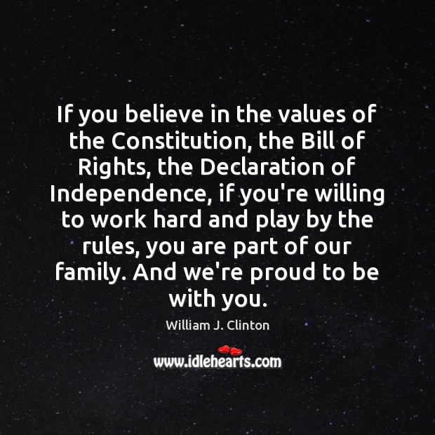 Image, If you believe in the values of the Constitution, the Bill of