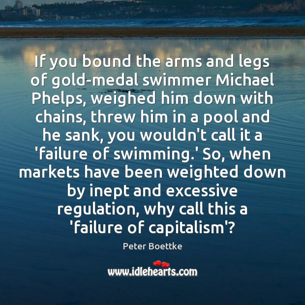 If you bound the arms and legs of gold-medal swimmer Michael Phelps, Image