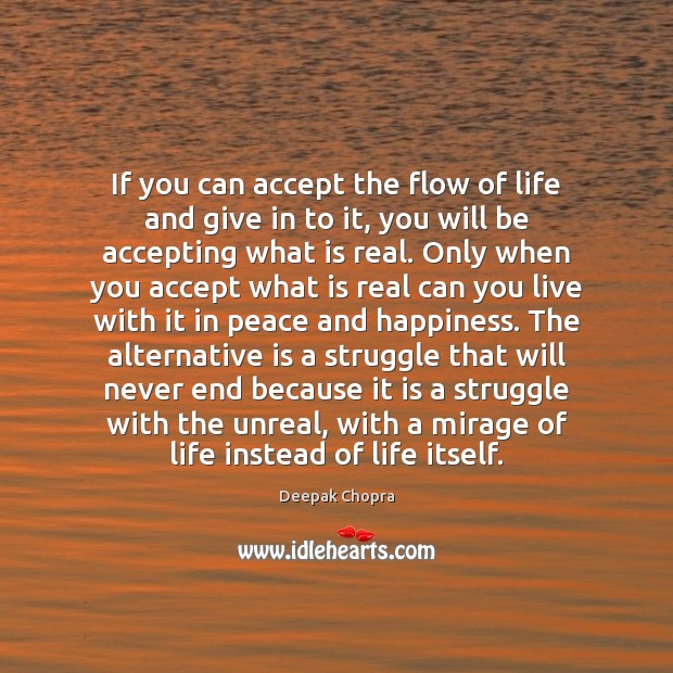 Image, If you can accept the flow of life and give in to