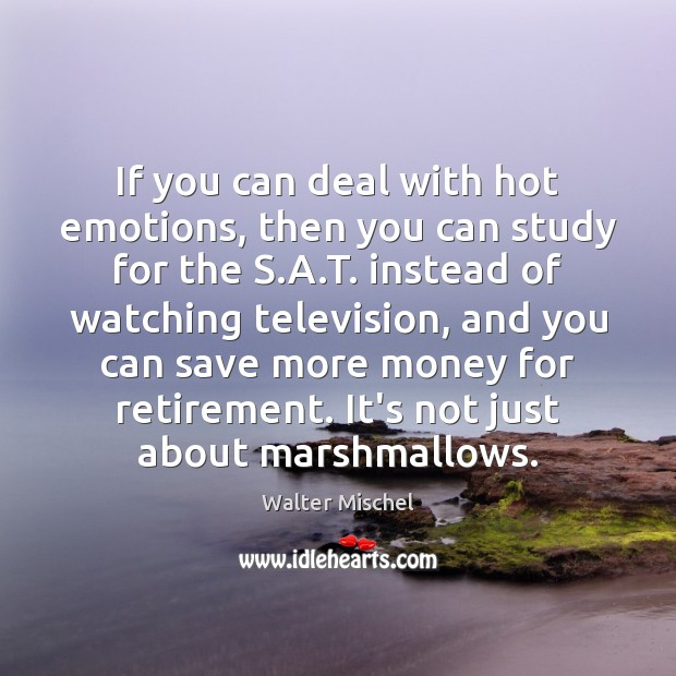 If you can deal with hot emotions, then you can study for Image