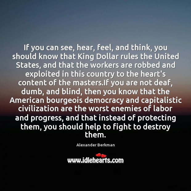 If you can see, hear, feel, and think, you should know that Image