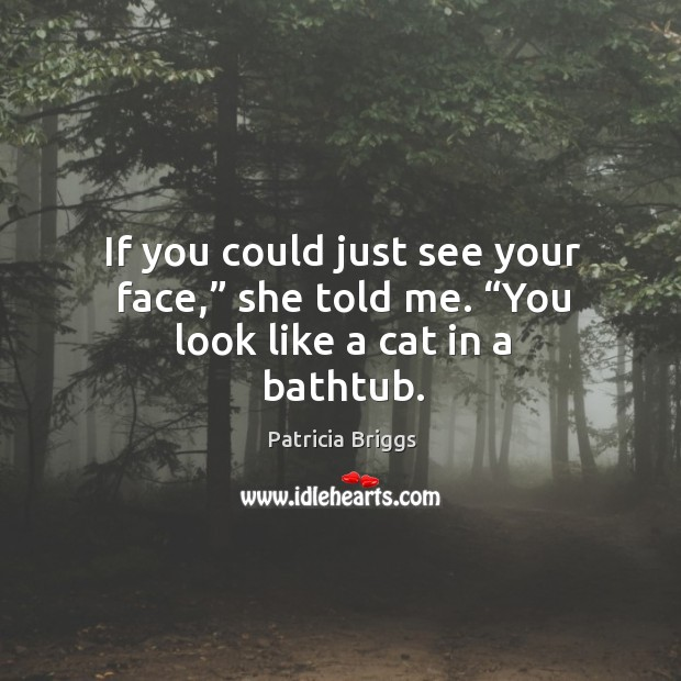 """If you could just see your face,"""" she told me. """"You look like a cat in a bathtub. Image"""