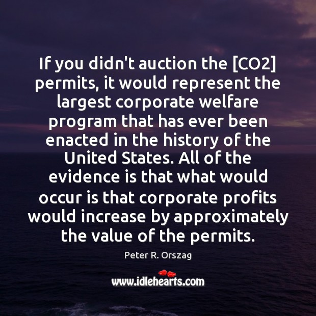 Image, If you didn't auction the [CO2] permits, it would represent the largest