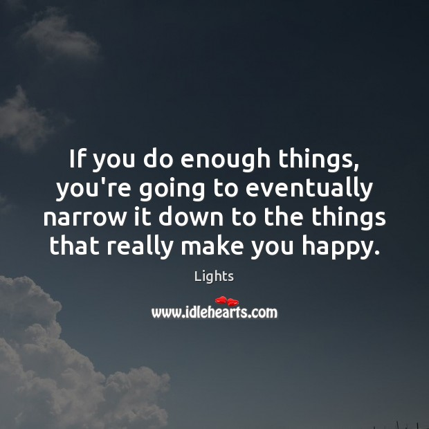 Image, If you do enough things, you're going to eventually narrow it down