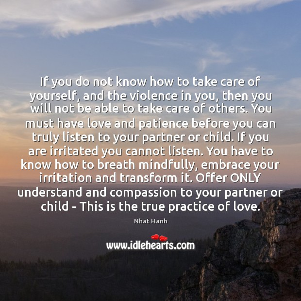 Image, If you do not know how to take care of yourself, and