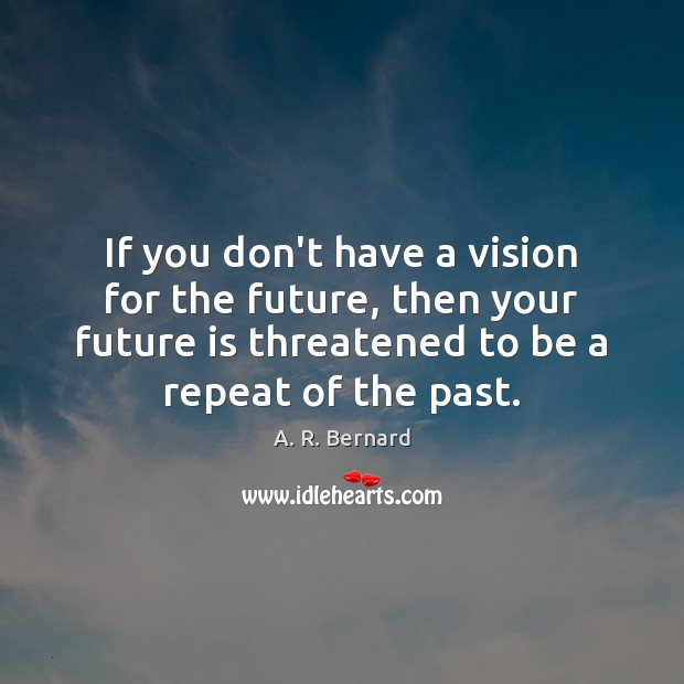 Image, If you don't have a vision for the future, then your future