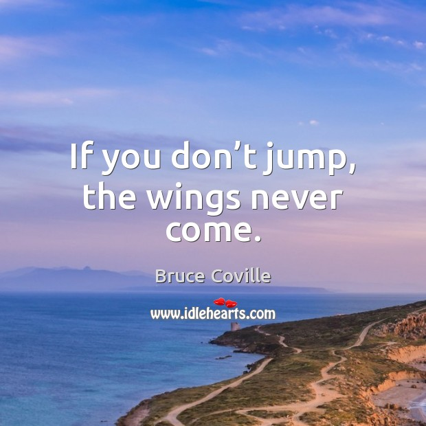 Image, If you don't jump, the wings never come.