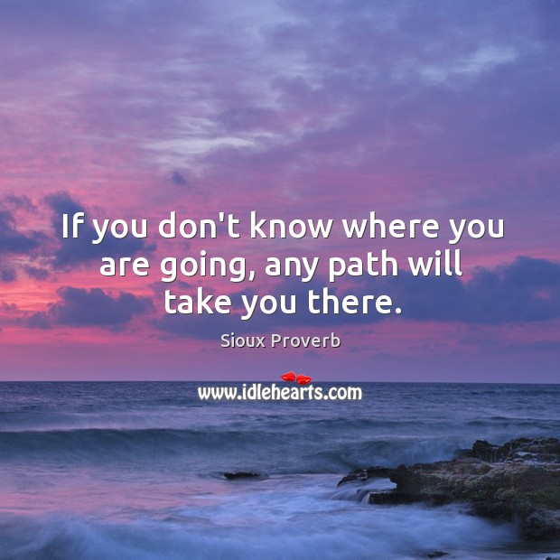 Image, If you don't know where you are going, any path will take you there.