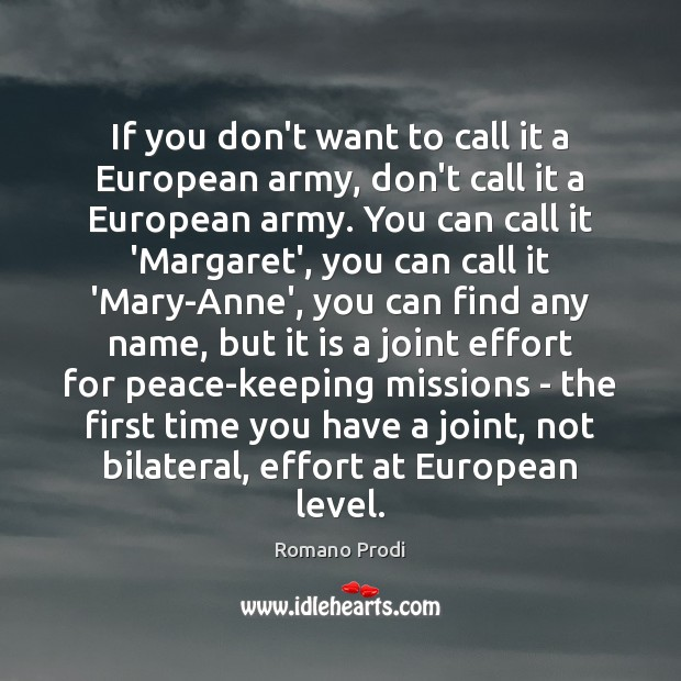 Image, If you don't want to call it a European army, don't call
