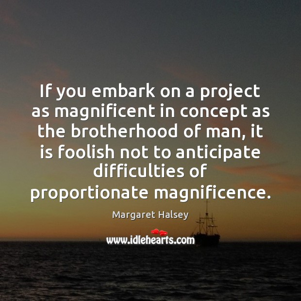 If you embark on a project as magnificent in concept as the Image