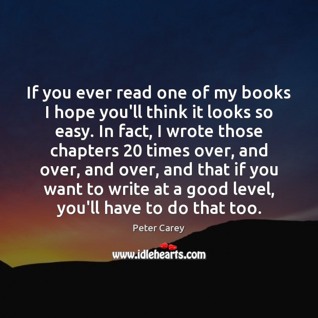 If you ever read one of my books I hope you'll think Image