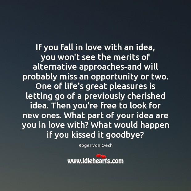 If you fall in love with an idea, you won't see the Image