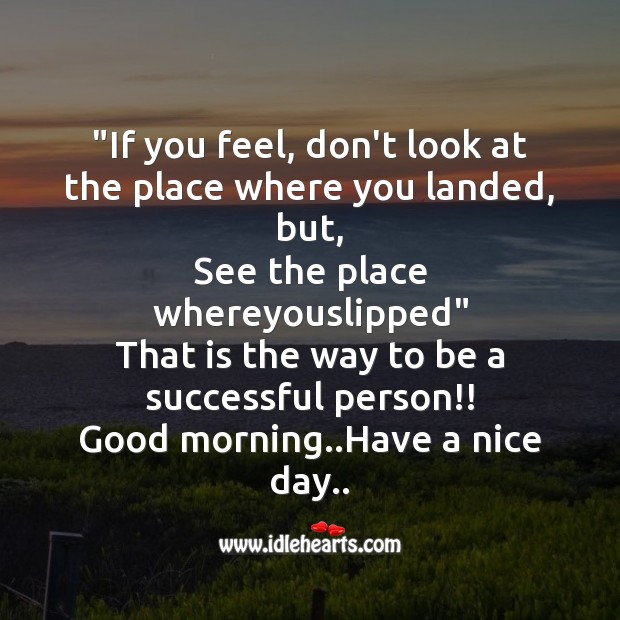 Image, If you feel, don't look at the place where you landed