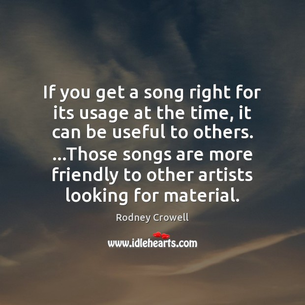 If you get a song right for its usage at the time, Image