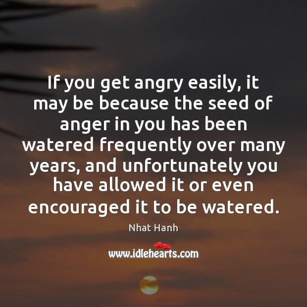 Image, If you get angry easily, it may be because the seed of