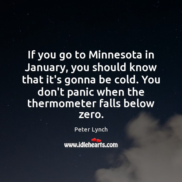 If you go to Minnesota in January, you should know that it's Image