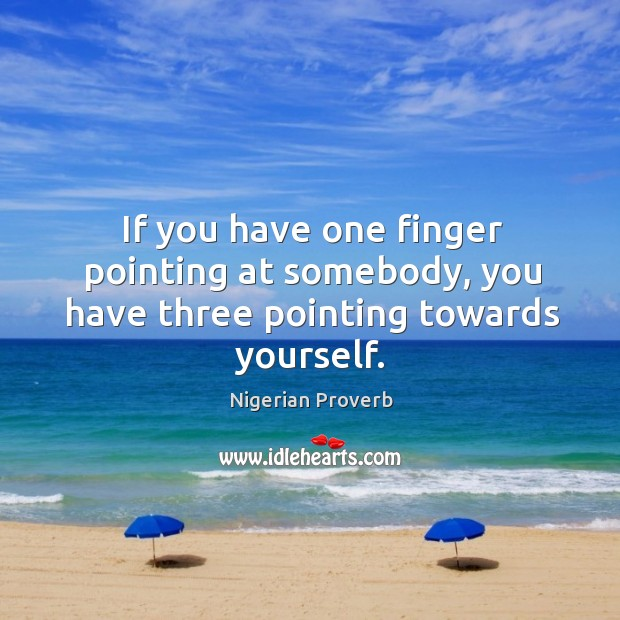 Image, If you have one finger pointing at somebody