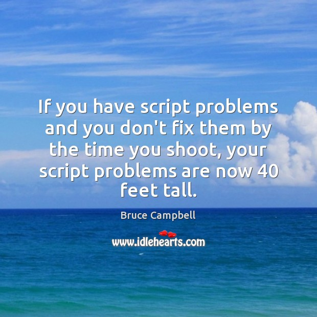If you have script problems and you don't fix them by the Image