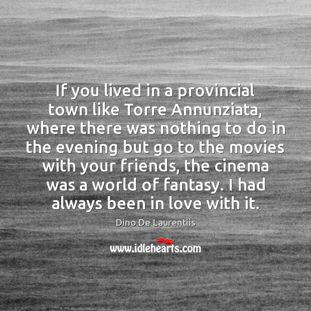 If you lived in a provincial town like Torre Annunziata, where there Image