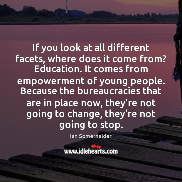 If you look at all different facets, where does it come from? Image