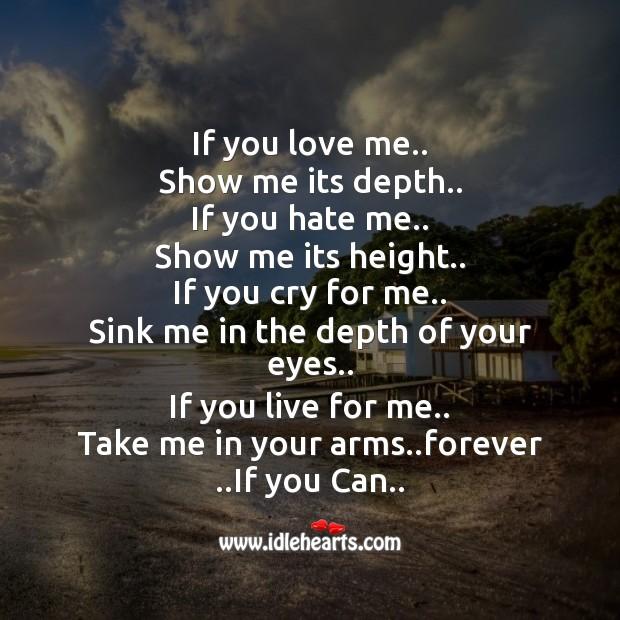 If you love me.. Show me its depth.. Image