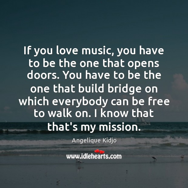 If you love music, you have to be the one that opens Image