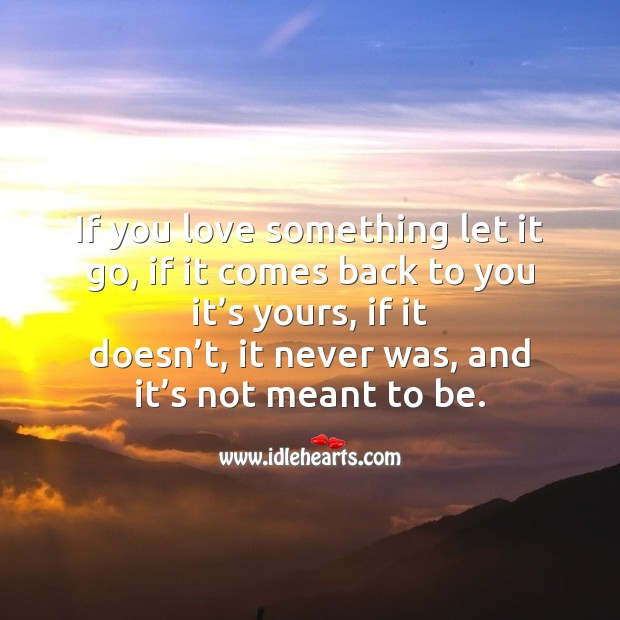 Image, If you love something let it go