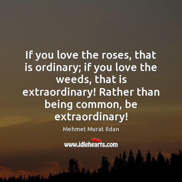 Image, If you love the roses, that is ordinary; if you love the