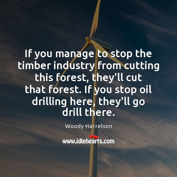 Image, If you manage to stop the timber industry from cutting this forest,