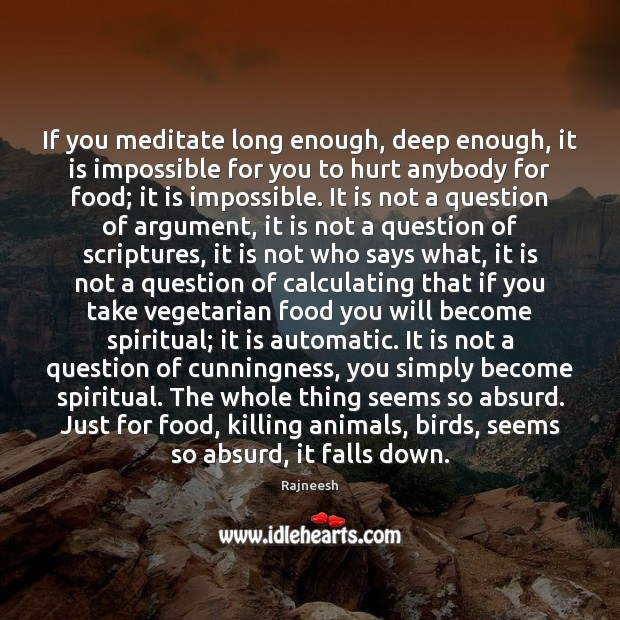 Image, If you meditate long enough, deep enough, it is impossible for you