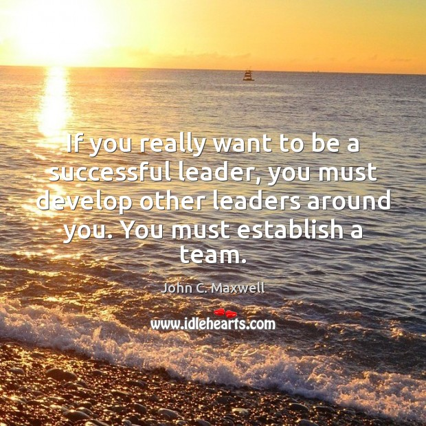 Image, If you really want to be a successful leader, you must develop