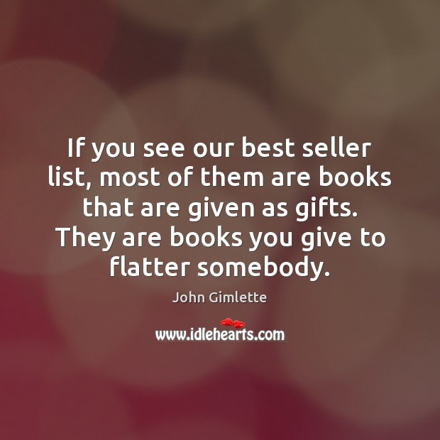Image, If you see our best seller list, most of them are books