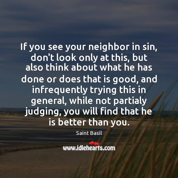 If you see your neighbor in sin, don't look only at this, Image