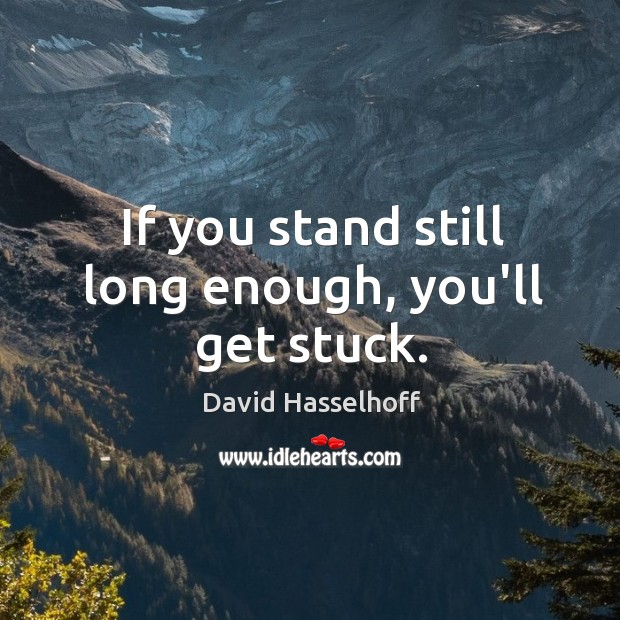 If you stand still long enough, you'll get stuck. Image