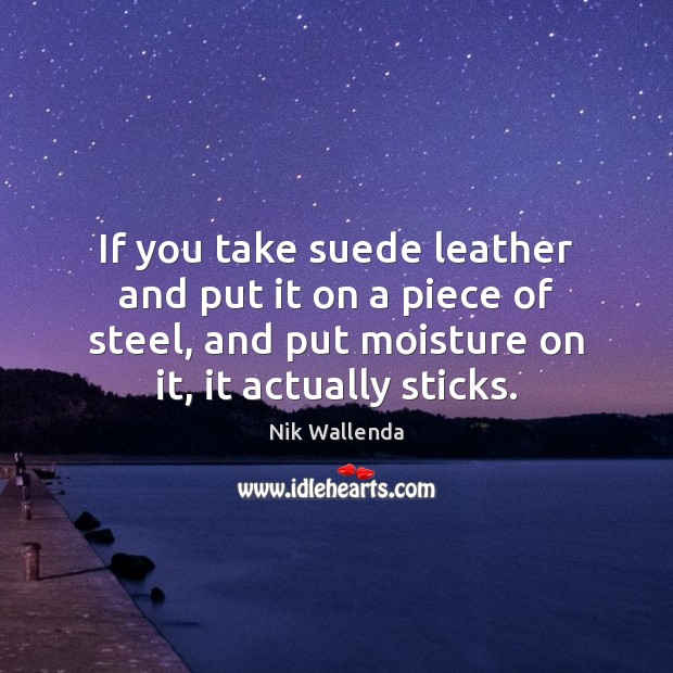 If you take suede leather and put it on a piece of Image