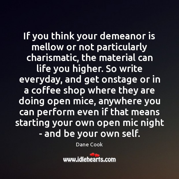 If you think your demeanor is mellow or not particularly charismatic, the Image