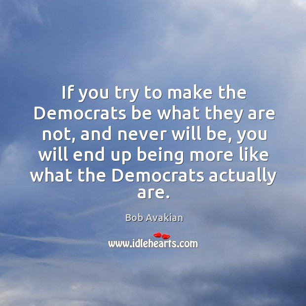 If you try to make the Democrats be what they are not, Image